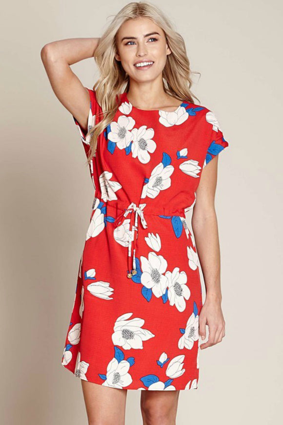 Floral Drawstring Dress | Yumi