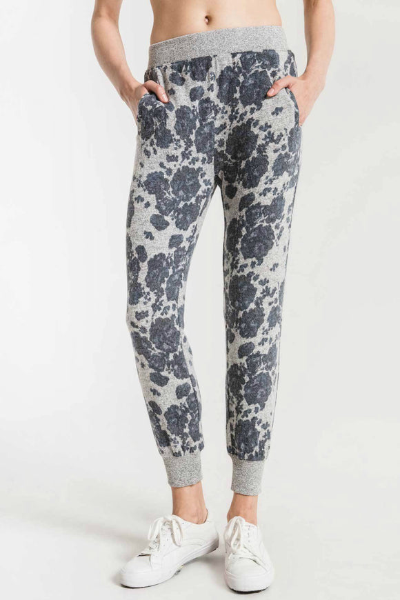 Z Supply marled floral jogger. Jolie folie boutique