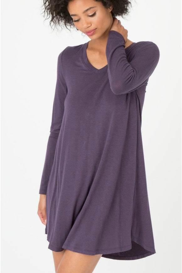 Long Sleeve Breezy Plum Dress | Z Supply