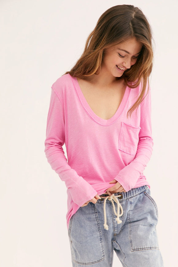 Betty Long Sleeve - Brightest Orchid | Free People