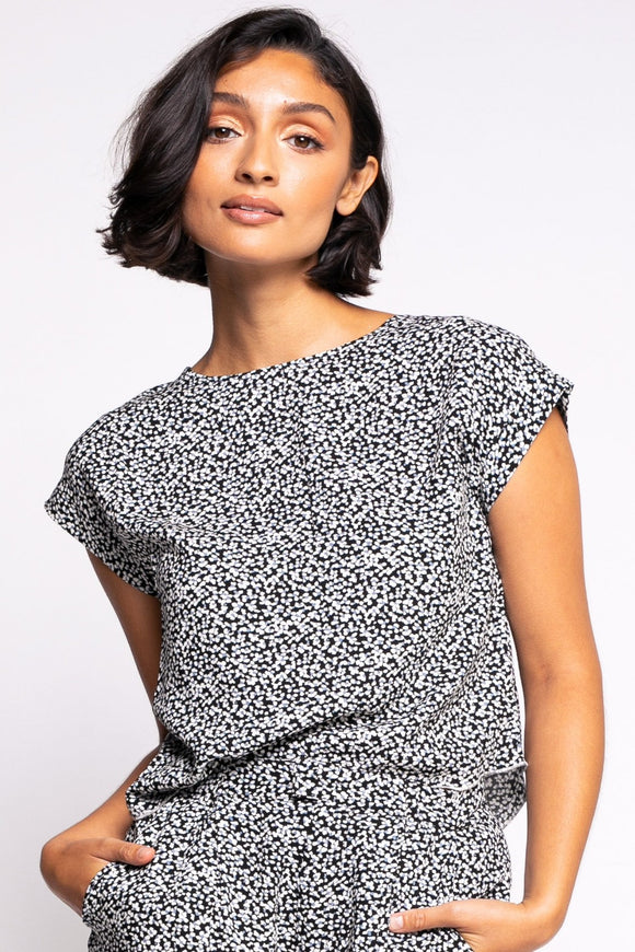 Emery Top - Black | Pink Martini
