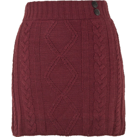 Grace Skirt Red  - Winter Wear - By Laundromat - Women Winter Wool Skirts - Jolie Folie