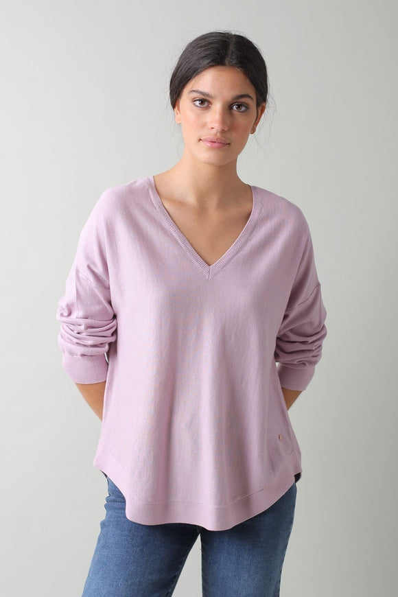 Organic Cotton Sweater - Lilac | Indi & Cold