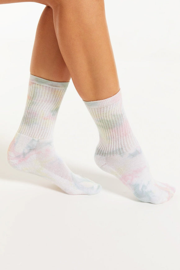 Multicolor Tie-Dye Socks - White | Z Supply