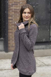 Adelaide Cross Front Sweater - Raisin | Blondie Apparel