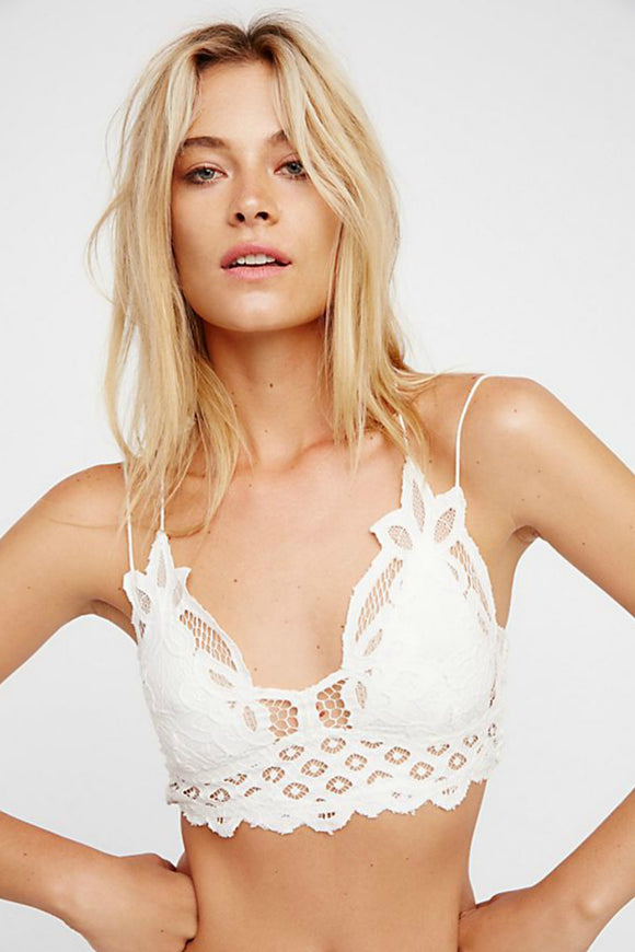 Adella White Bralette - Free People