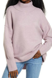Afterglow Mock Neck Sweater - Lilac | Free People
