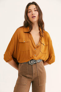 Free People andy yellow tee. Jolie folie boutique