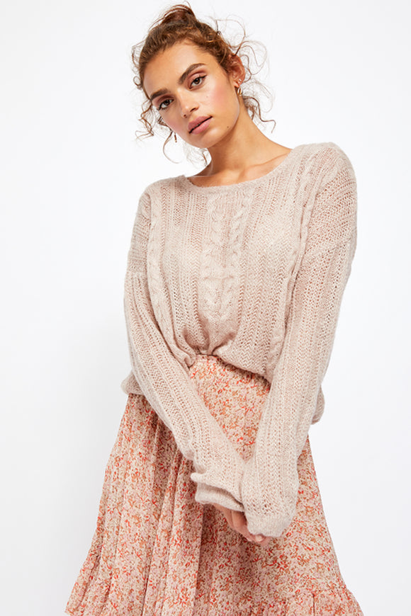 free people angel soft pullover. jolie folie boutique