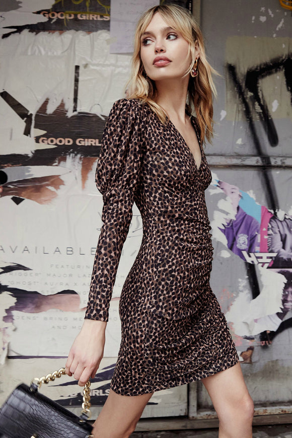 animal long sleeve dress by bb dakota