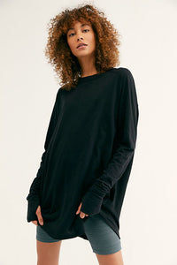 Free people arden black tee. Jolie folie boutique