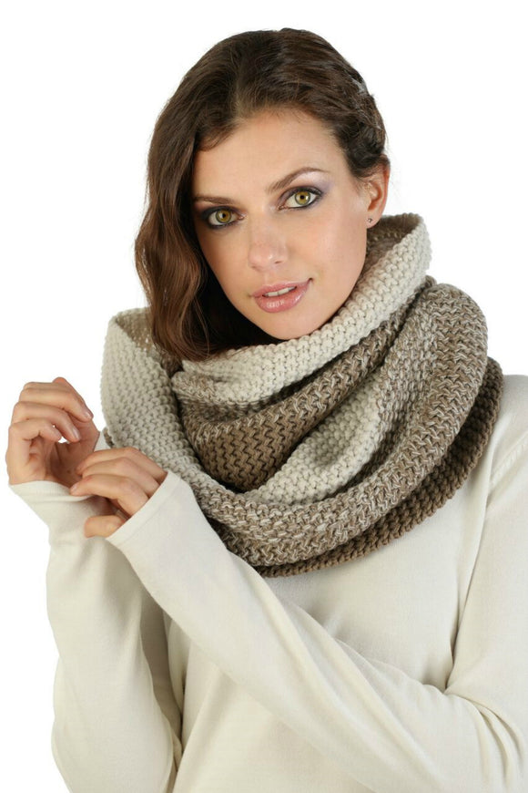 Aria Taupe Scarf | Schwiing