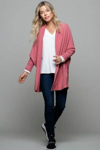 schwiing pink long sleeve cardigan