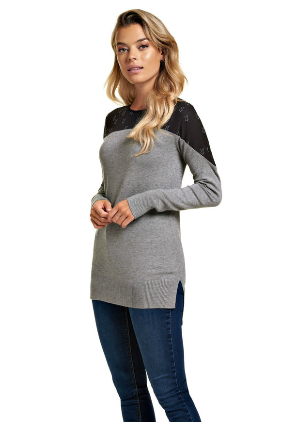 Schwiing Bekia grey tunic. Jolie folie boutique