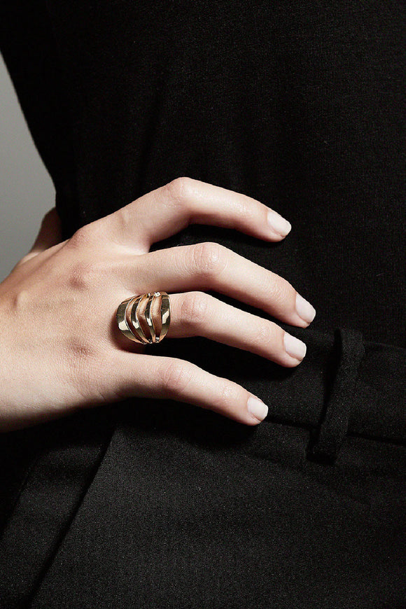 pilgrim adjustable gold ring