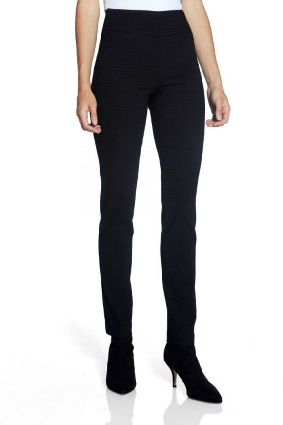 techno slim black pants by Up