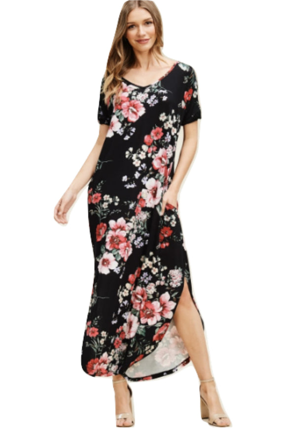 Sondra Slip Black Maxi Dress