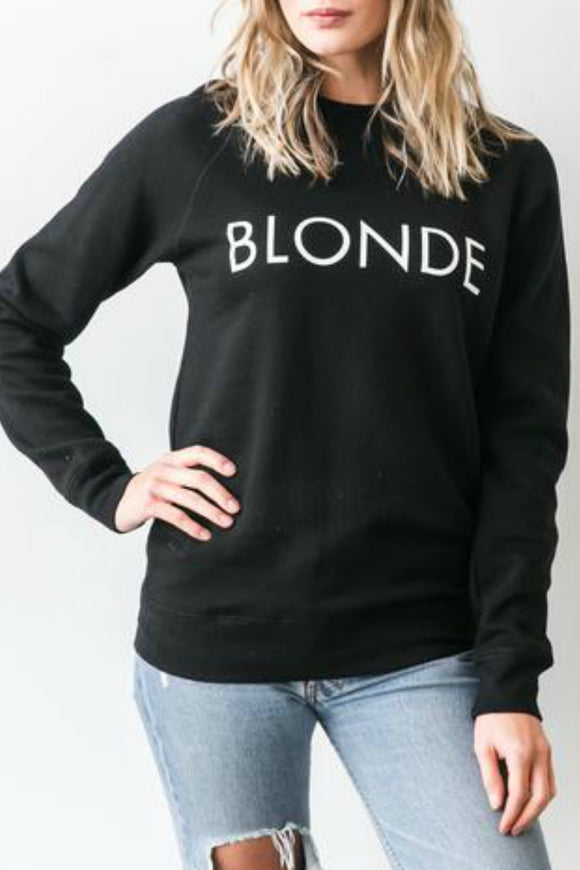 Blonde Crew Sweater - Brunette Sweatshirt - Winter Wear- Jolie Folie