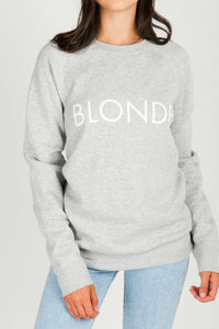 """BLONDE"" Pebble Grey Crew 