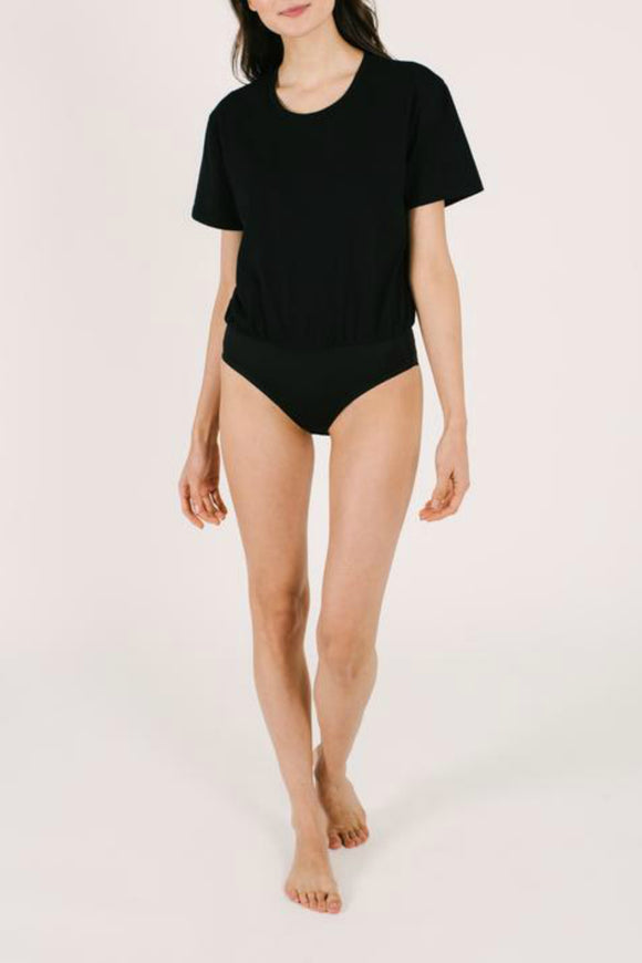 The T-Shirt Bodysuit - Black | Smash + Tess
