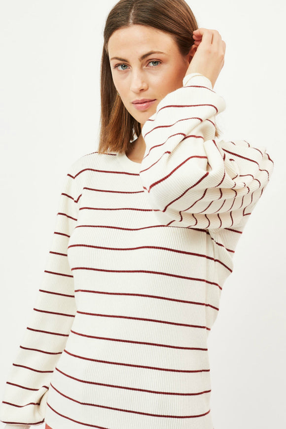 Women's stripe sweater.