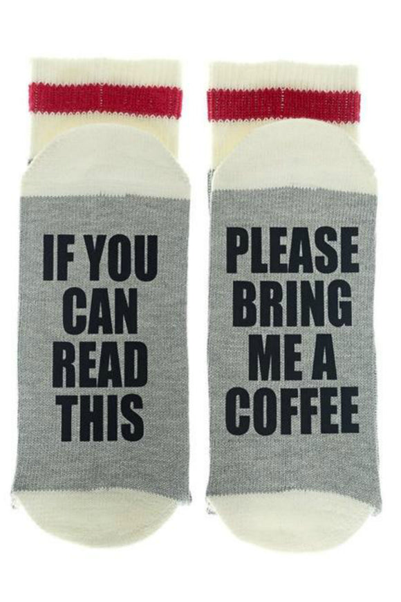 If You Can Read This - Please Bring Me Coffee **GOLD GLITTER TEXT**