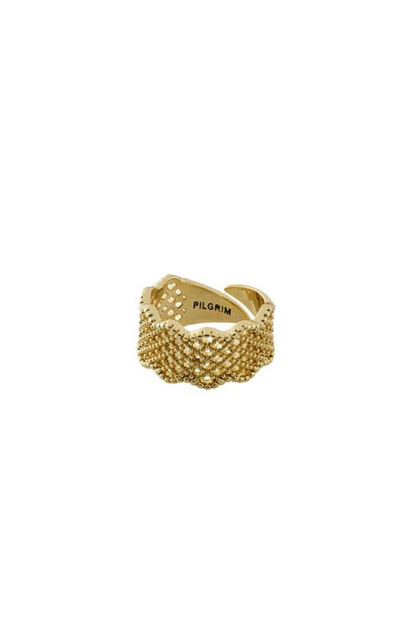cali gold pleated ring