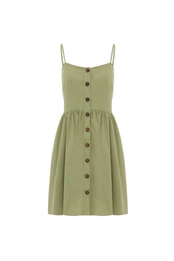 Khaki Cami Dress | Apricot