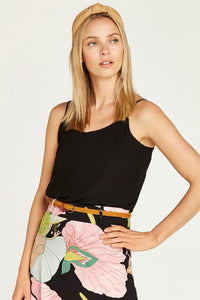 double layer black cami