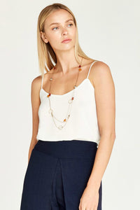 double layer cream cami