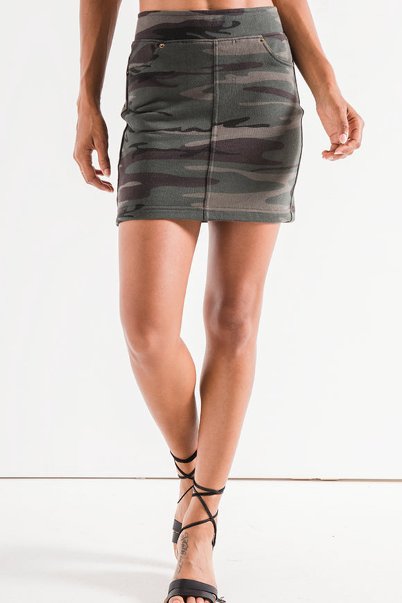 The Camo Knit Mini Skirt | Z Supply