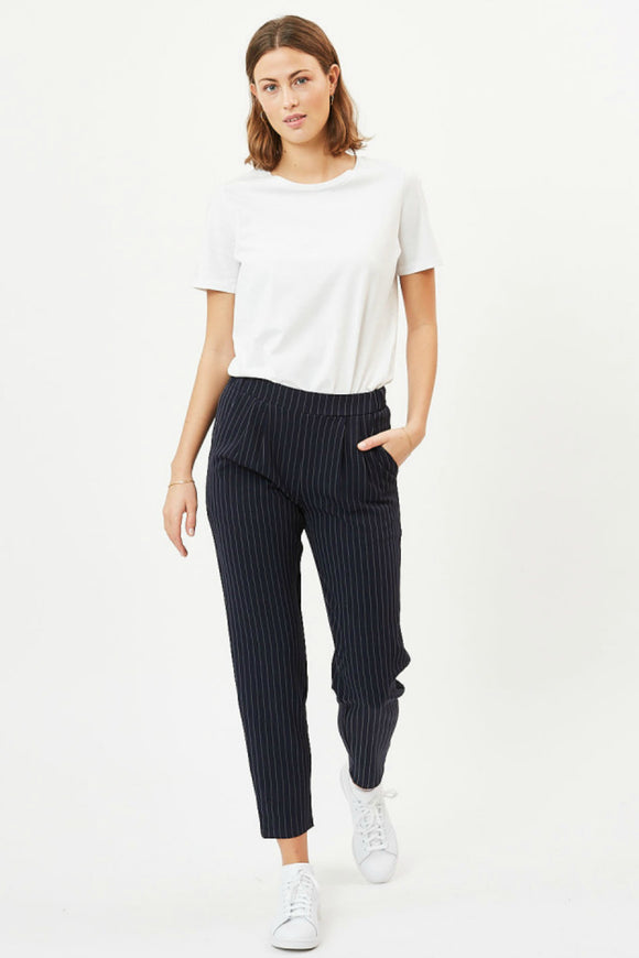 women's stripe trousers.