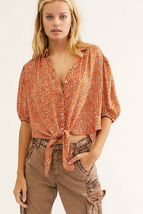 Celia Printed Blouse | Free People