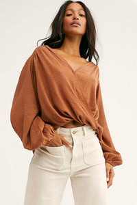 Check On It Wrap Top | Free People