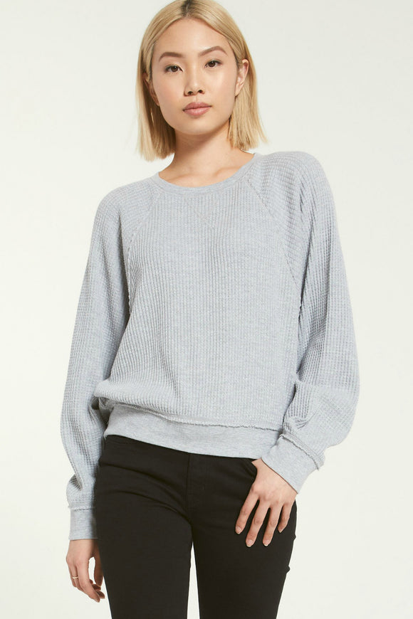 waffle long sleeve top by z supply