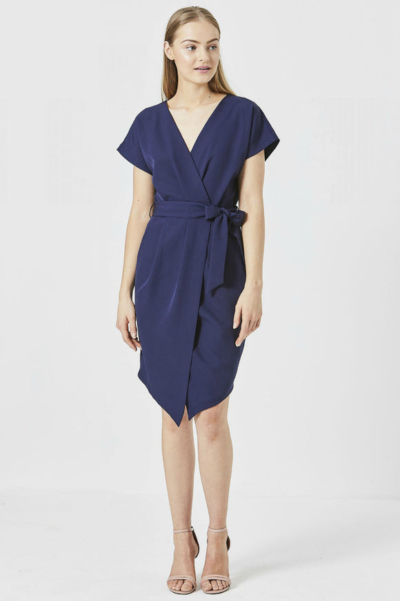 Cori Wrap Midi Work Dress | Angel Eye