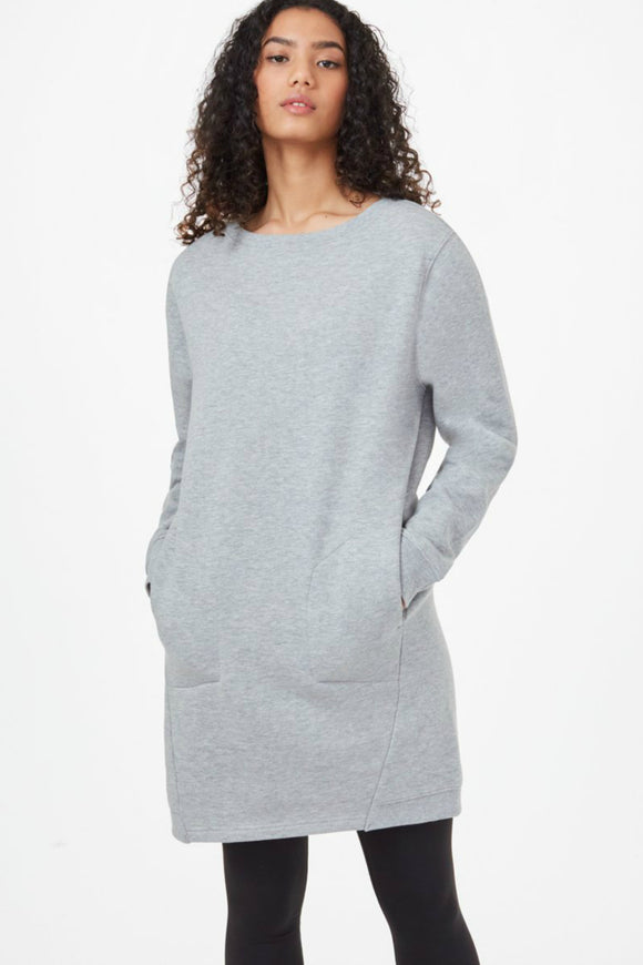 tentree long sleeve fleece crew dress