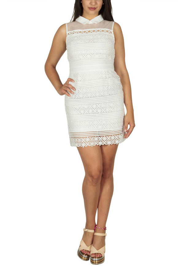 Dolia mini lace dress white | Ryujee