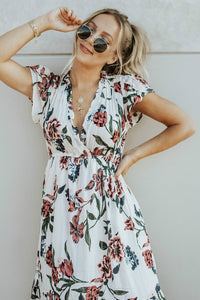 bb dakota floral midi dress