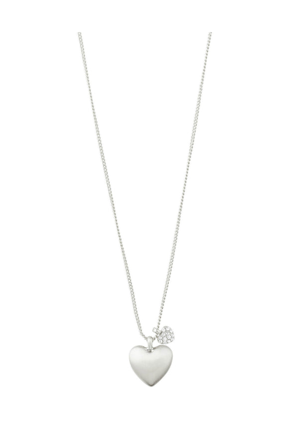 Sophia Two-Hearts Necklace - Silver | Pilgrim