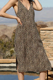 leopard print midi dress by brunette the label