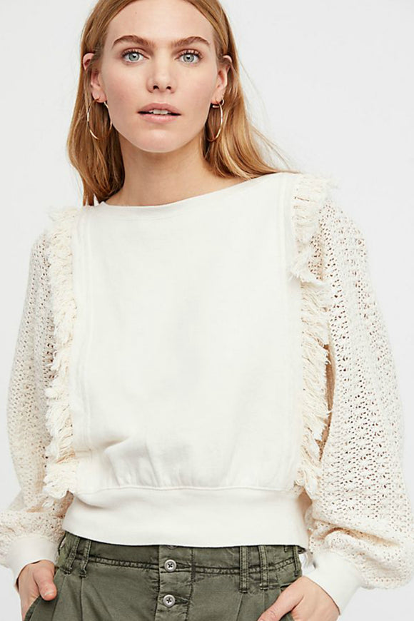 Faff & Fringe Pullover | Free People
