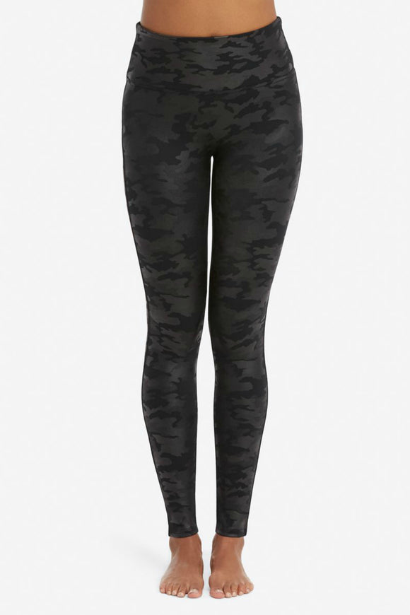 Faux Leather Camo Leggings | Spanx