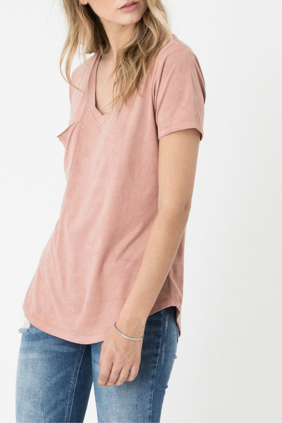 The Faux Suede Pocket Tee | Z Supply