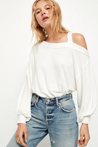 Free People flaunt it tee in ivory. Jolie folie boutique