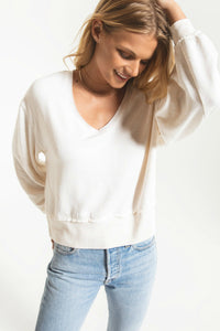 fleece oatmeal sweater by z supply