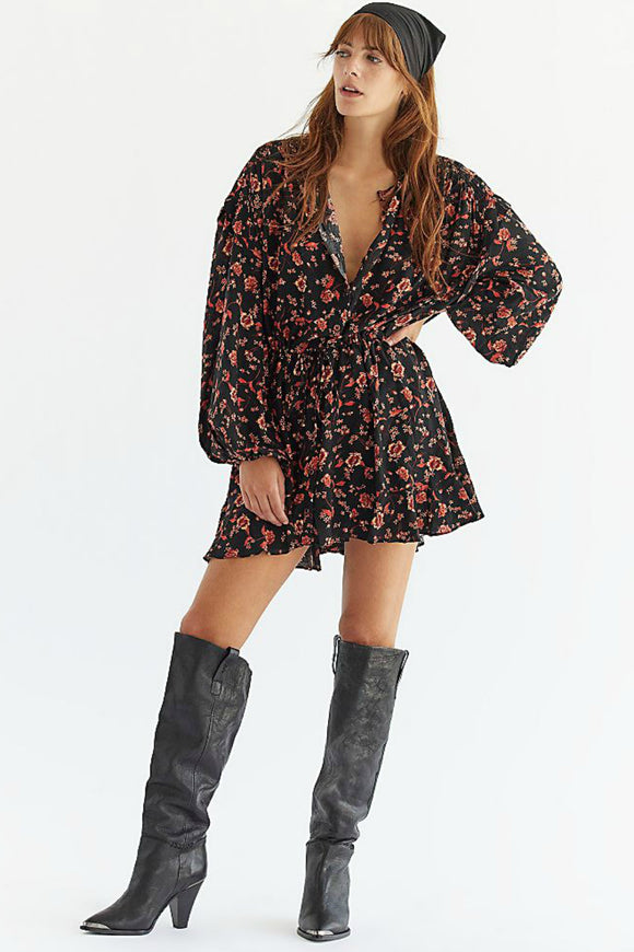 floral mini dress by free people