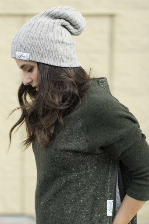 Thick Rib Stone Toque | Blondie Apparel