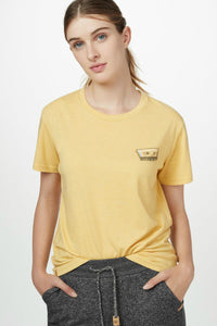 Tentree yellow tshirt. Jolie folie boutique