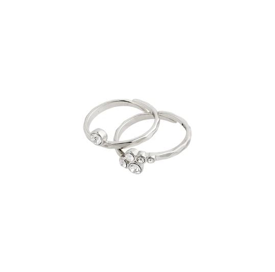 Fran 2-in-1 Ring Set - Silver | Pilgrim